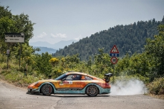 34 NESETRIL Petr (CZE), CERNOCH Jiri (CZE), Team Petr Nesetril,  Porsche 997 GT3 , action    during the 2020 Rally di Roma Capitale, 1st round of the 2020 FIA European Rally Championship, from July 24 to 26, 2020 in Rome, Italy - Photo Frédéric Le Floc'h / DPPI